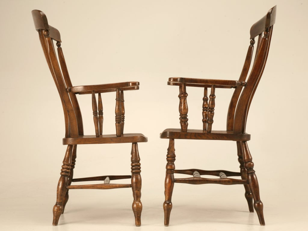 antique windsor chair identification hanging pillow magnificent pair of comb back arm chairs