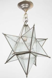 A Star-Shaped Ceiling Fixture at 1stdibs