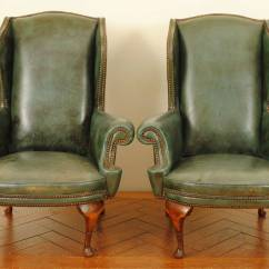 Queen Anne Style Chairs Wedding Chair Covers Rental In Chennai Pair Of Italian Walnut And Leather