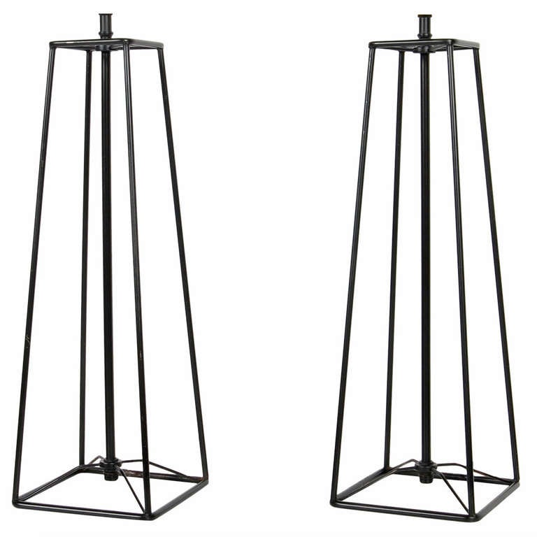 Verplex Modernist Wire Table Lamps at 1stdibs