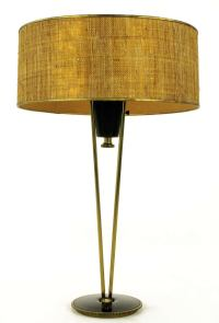Rare 1950s Black Lacquer and Brass Suspension Stiffel ...