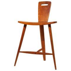 3 Legged Chair Amazon Zero Gravity Extremely Rare Three Stool By Tage Frid At 1stdibs