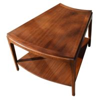 Wedge Shaped Two tier Side Table at 1stdibs