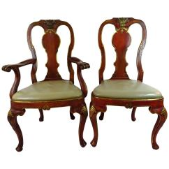Queen Anne Style Chairs Chair Gym Twister Exercises Set Of 16 Dutch Dining At 1stdibs