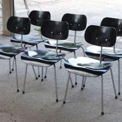 Potato Chip Chair Eames Carpet Sliders For Chairs Egon Eiermann Dining Set At 1stdibs