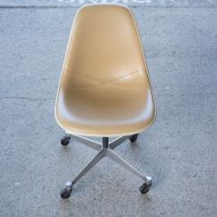 Office Chair Steel Base With Wheels How To Make A Cardboard Only Eames Vinyl Desk Wheels. At 1stdibs