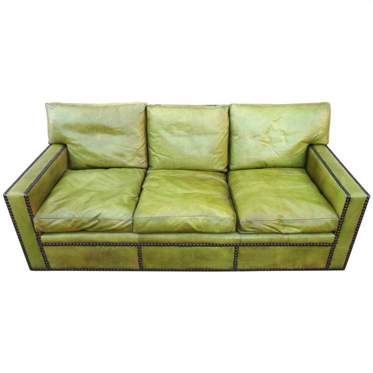jean michel frank style sofa buckingham collection fabulous 1950s french leather after ...