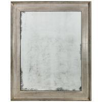 Clean Lined Silver Leaf Mirror at 1stdibs
