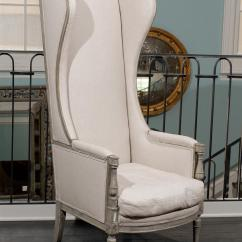 High Back Wing Chairs Oval Dining Room Chair Covers American Upholstered Painted Wood At