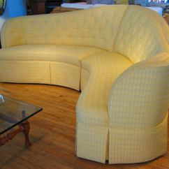 Large Seat Depth Sofas Smallest Sofa Bed Curved And Button Tufted Sectional At 1stdibs