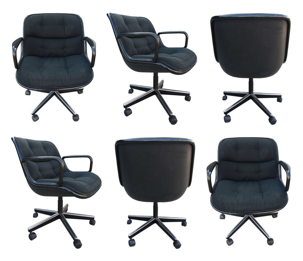 knoll office chair parts chaise lounge chairs outdoor target set of 6 executive pollock by charles for