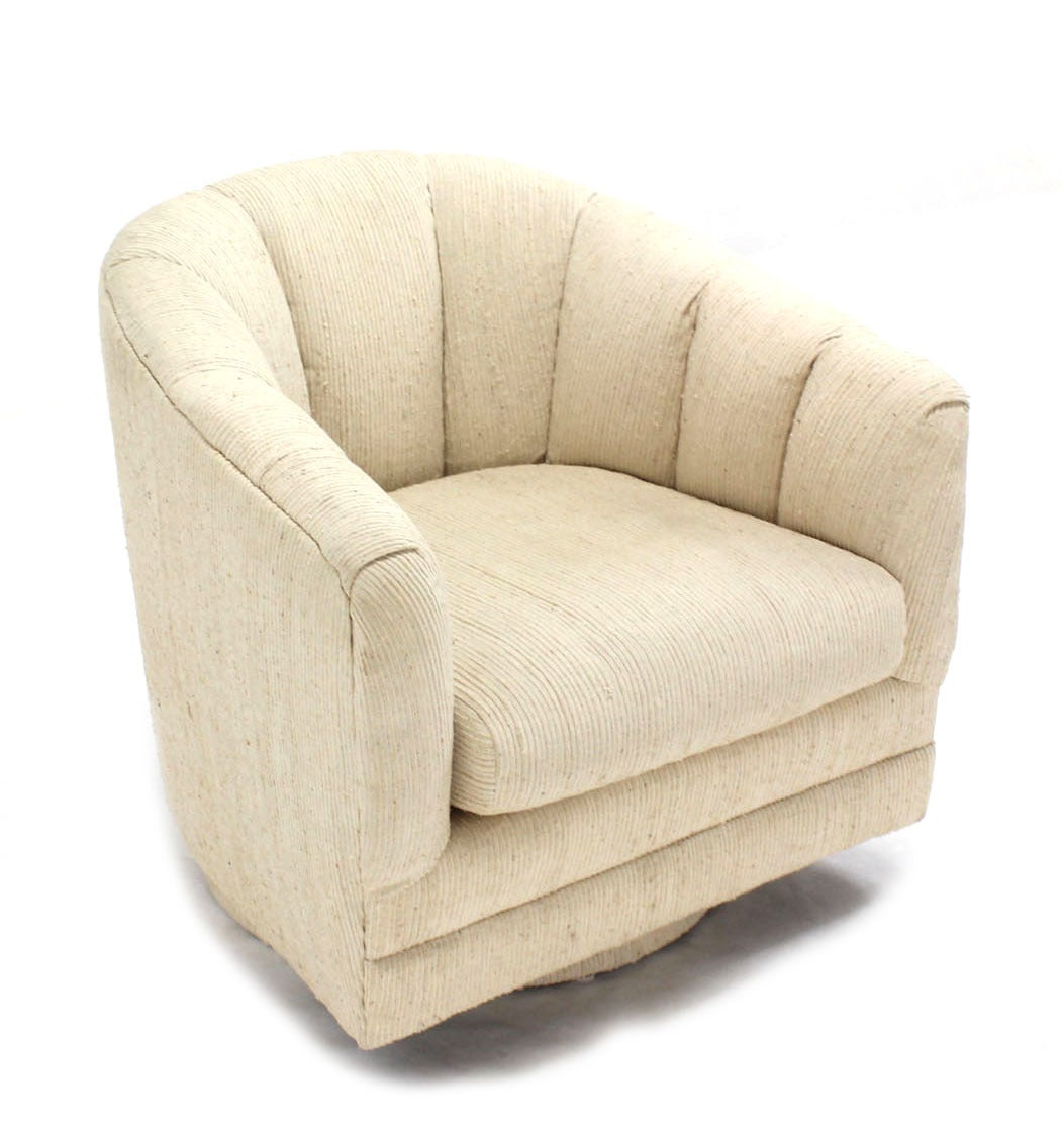 revolving lounge chair divani casa charles modern white leather reclining pair of barrel back chairs by milo