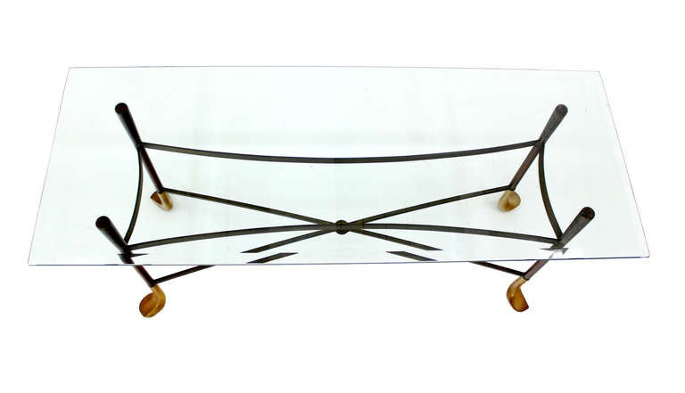 Golf Clubs Theme Mid Century Modern Console Table at 1stdibs