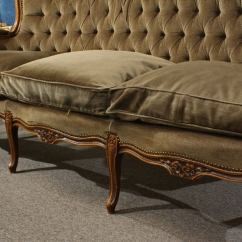 Down Sofas Canada Drexel Heritage Leather Sofa Antique French Louis Xv Tufted Back Circa 1930s At ...