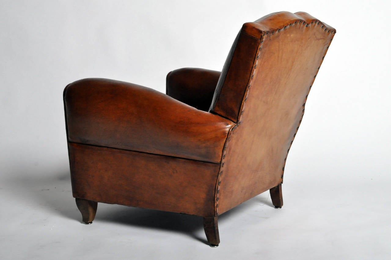 art deco club chairs leather office for wooden floors chair at 1stdibs