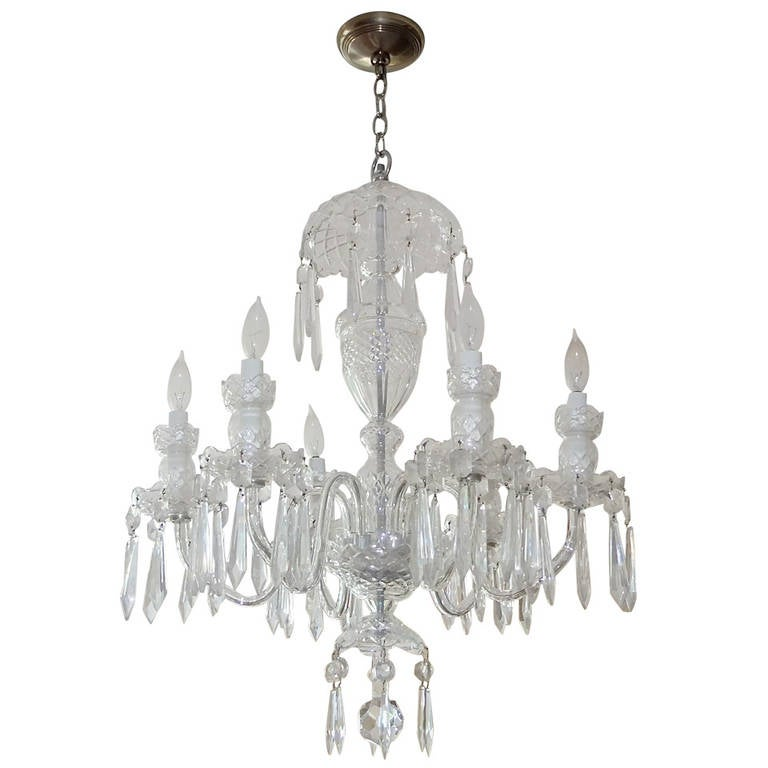 Waterford Crystal Avoca SixArm Chandelier at 1stdibs