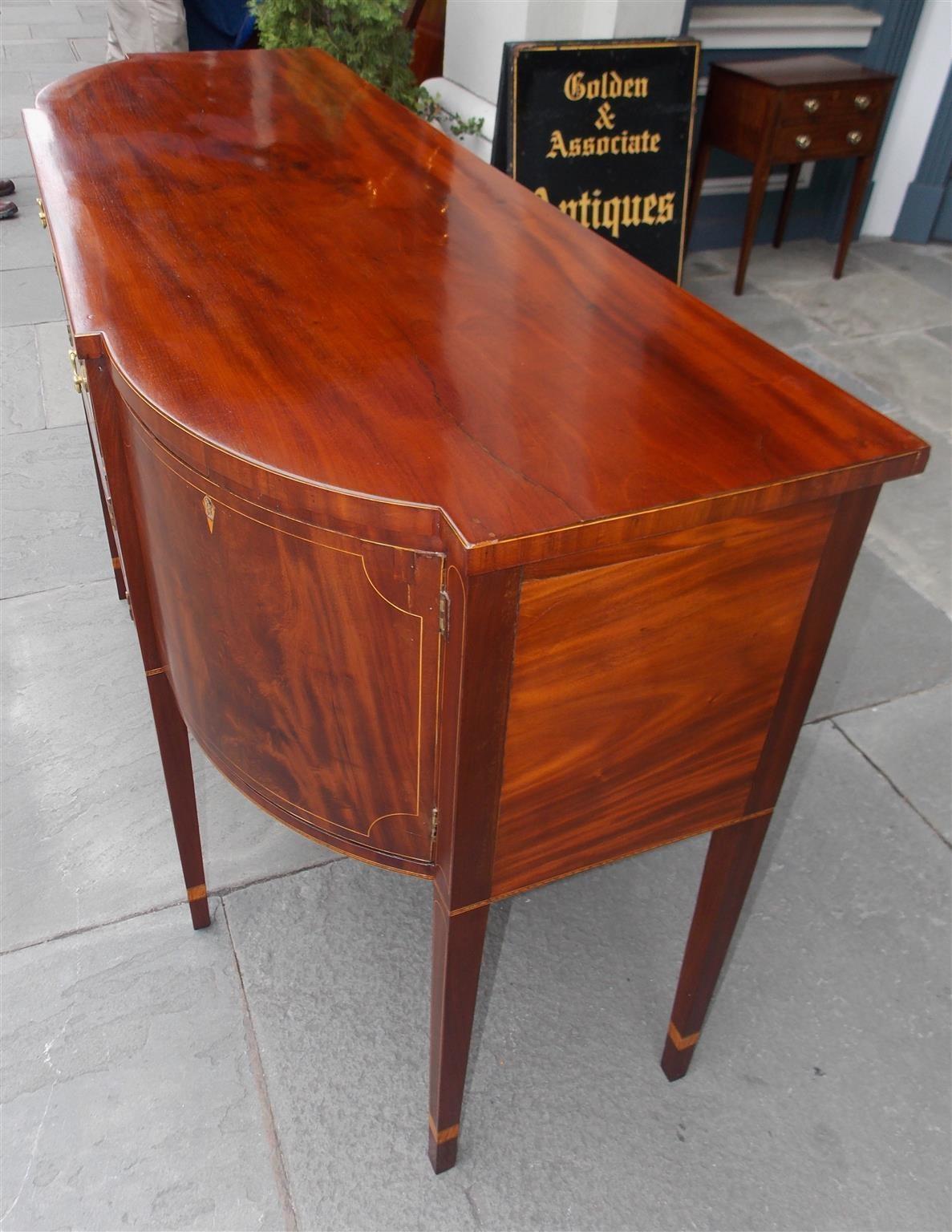American Mahogany And Satinwood Inlaid Sideboard Circa