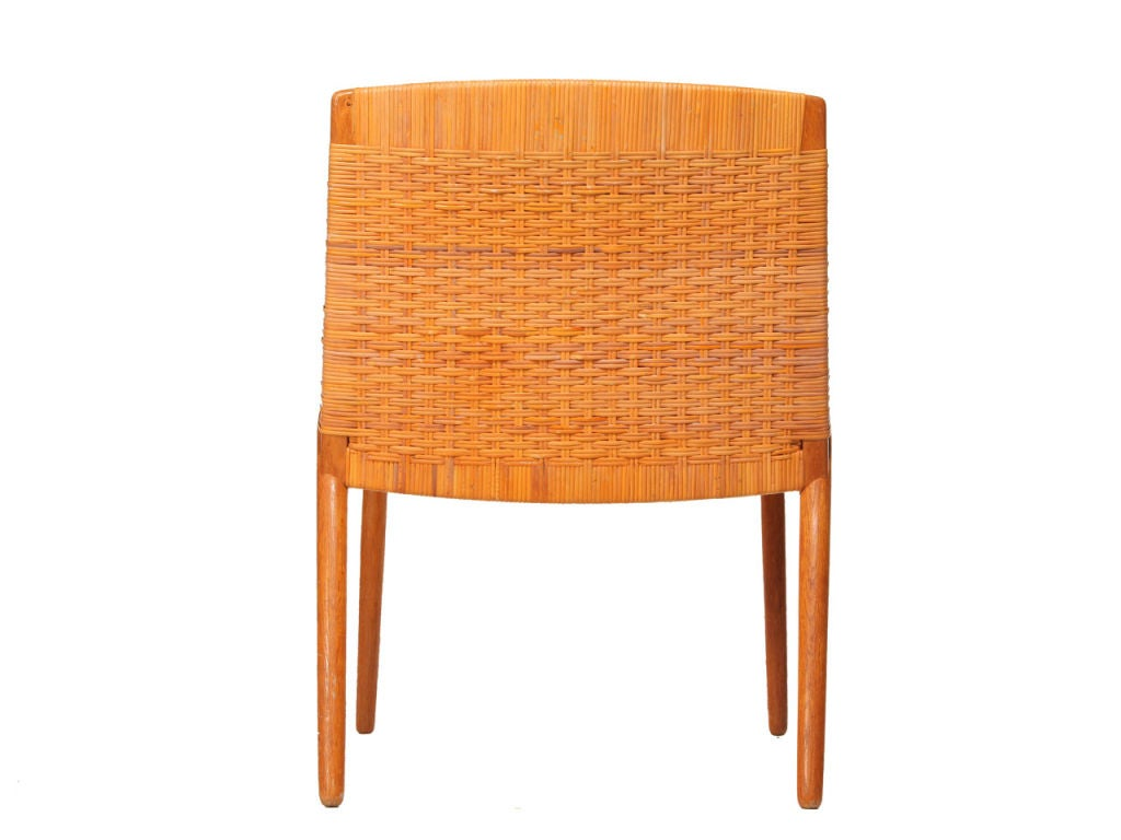 cane easy chair academy sports chairs oak and by larsen madsen at 1stdibs