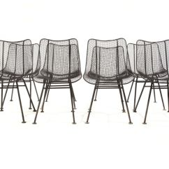 Wire Dining Chairs Oversized Chair Mesh By Woodard Image 2