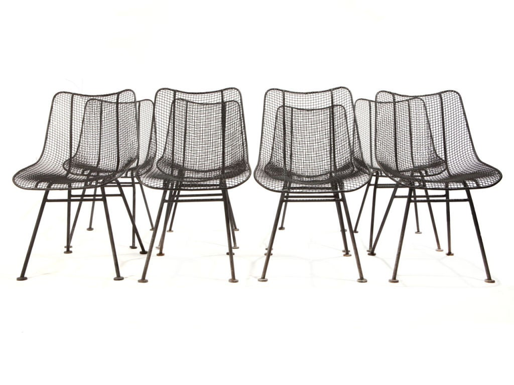 Wire Dining Chairs Wire Mesh Dining Chairs By Woodard Image 2