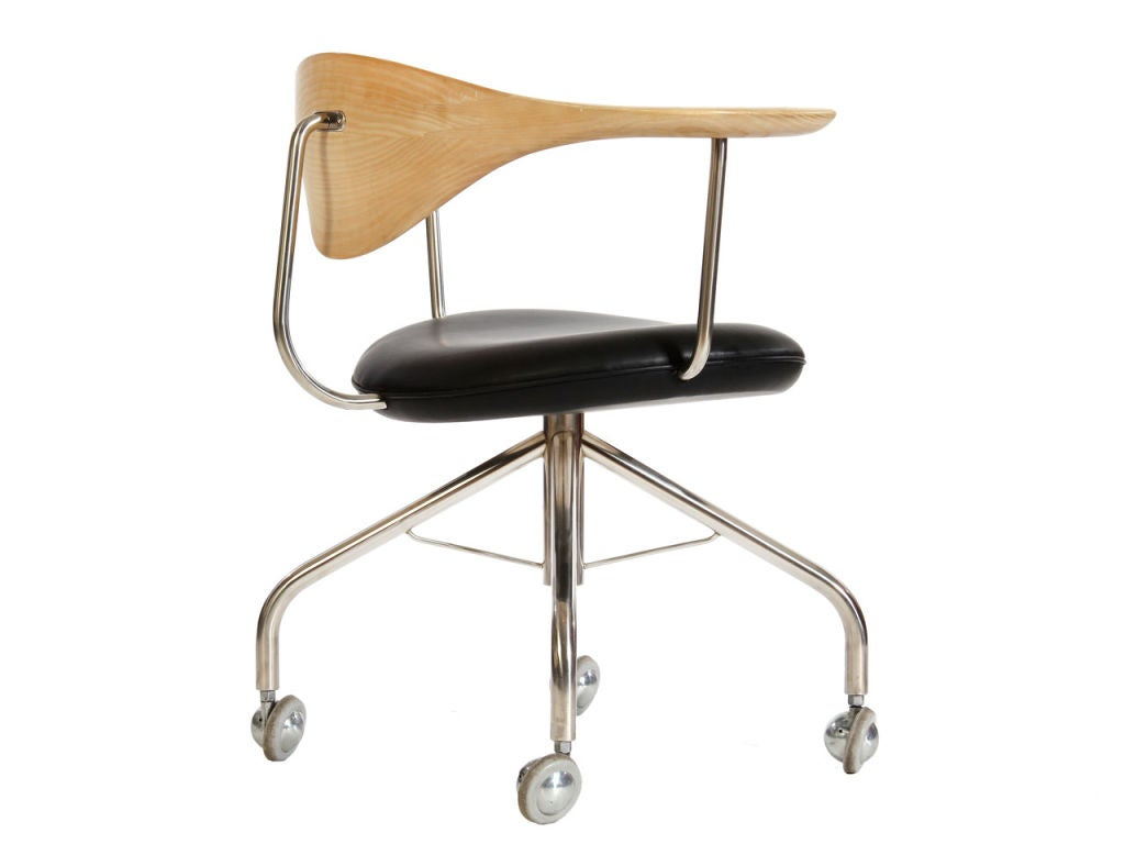 desk chair casters learning for kids swivel by hans wegner at 1stdibs