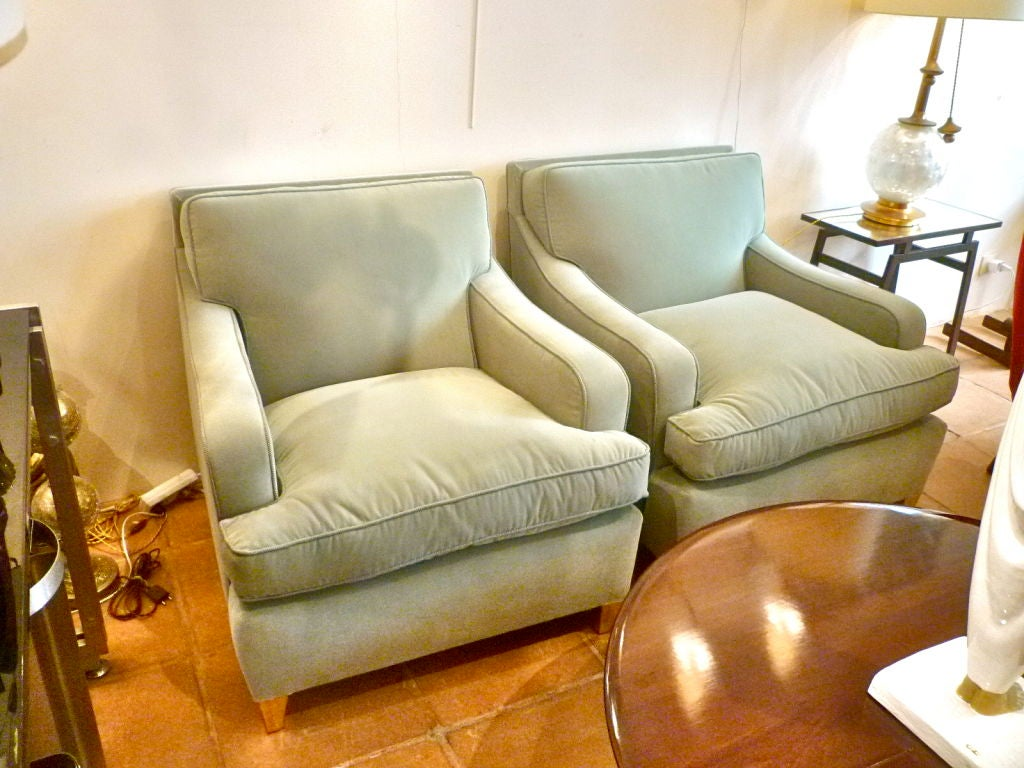 Big Comfortable Chairs Maison Jansen Very Large And Comfortable Club Chairs At