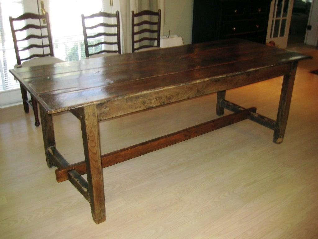 oak farmhouse chairs nj chair rentals table at 1stdibs