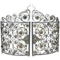 A Pair of Rare 19th Century Demi-Lune Iron Gates from ...