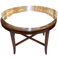 Silver Tray Table at 1stdibs