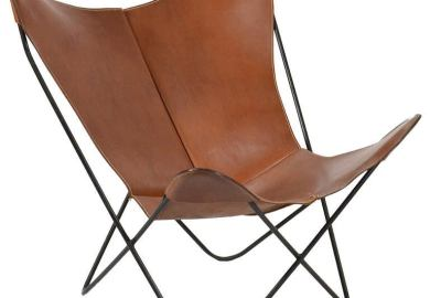 Leather Butterfly Chair By Jorge Ferrari Hardoy For Knoll
