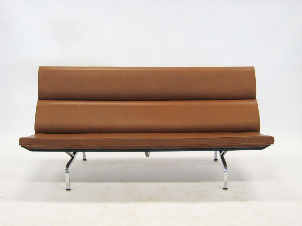 eames sofa compact knockoff arhaus craigslist in leather at 1stdibs