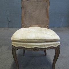 French Cane Back Dining Chairs Wicker Cheap Style Set Table W Two