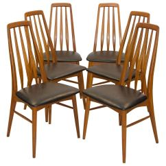 Danish Dining Chair Pottery Barn Baby Rocking Six Teak Chairs Koefoed Hornslet