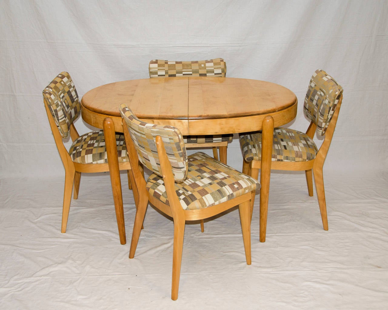 heywood wakefield chairs outdoor snuggle chair four mid century dining at 1stdibs