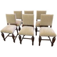 1920s English Tudor Style Dining Chairs at 1stdibs