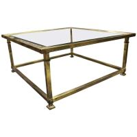 Midcentury Brass Coffee Table by Mastercraft at 1stdibs