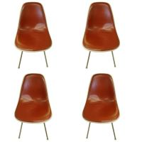 Four Cordovan Henry Miller Eames Midcentury Chairs at 1stdibs