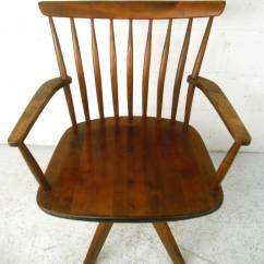 Swivel Chair Mid Century Diy Waterproof Covers Unique Modern Teak Spoke Back Desk