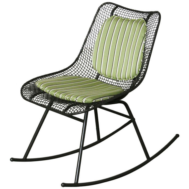 Russell Woodard Armless Rocking Chair at 1stdibs