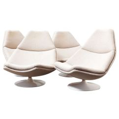 White Chaise Lounge Chair Lime Wash Chiavari Chairs Geoffrey Harcourt For Artifort Swivel At 1stdibs