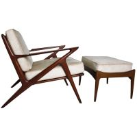 Poul Jansen Selig Z Chair and Ottoman at 1stdibs