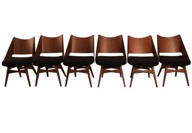 Czech Mid Century Modern Bentwood Dining Chairs