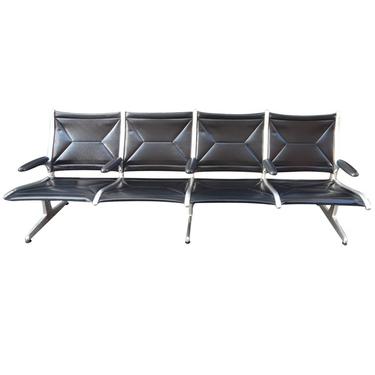 one seater sofa chair bed couch herman miller by eames airport sling back lounge chair: 4 ...