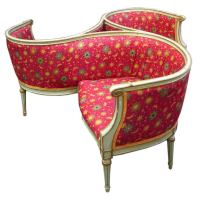 French circa 1890 Tete-a-Tete Conversation Chair / Seat at ...