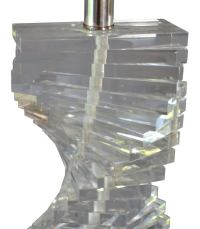 DNA Lucite Lamp, Mid-Century at 1stdibs