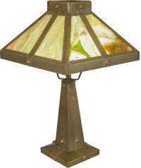 Arts & Crafts Slag Glass Lamp image 2