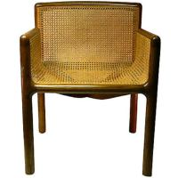 Mid-Century Cane Chair at 1stdibs