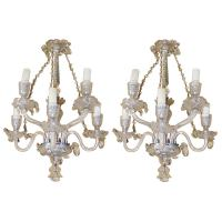 Pair of Waterford Crystal Comeragh Cut Crystal Wall Sconce