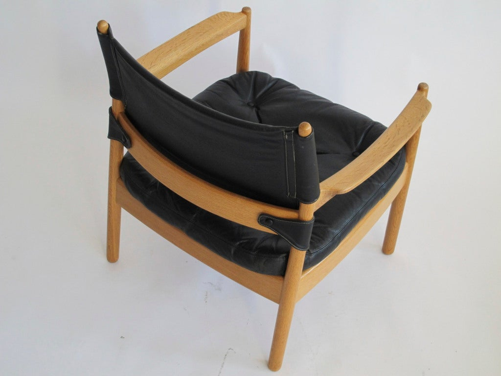 swedish leather recliner chairs wheelchair olympics black lounge at 1stdibs