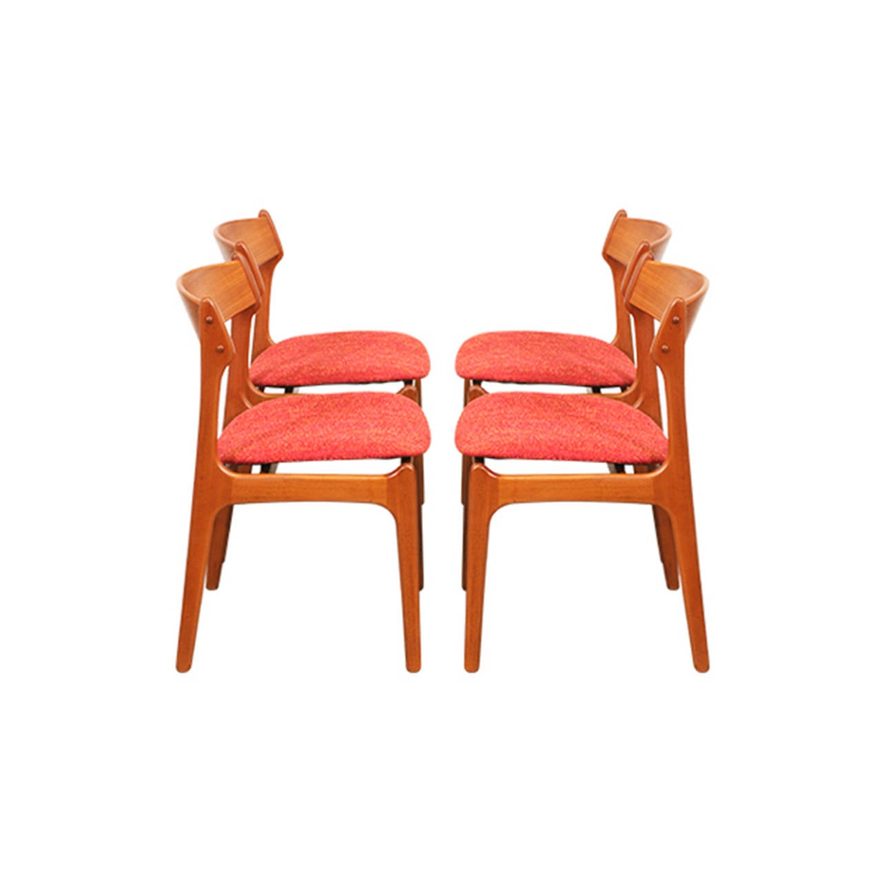 erik buck chairs wheel chair parts 49 teak dining for o d mobler at 1stdibs